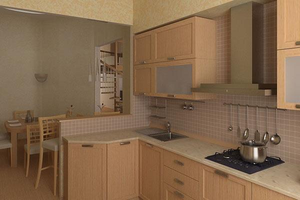 зонирование кухни фото